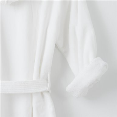 Bathrobe - Basic LM Blanco