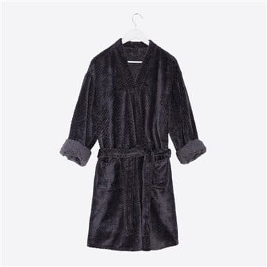 Housecoat - Basic Antracita