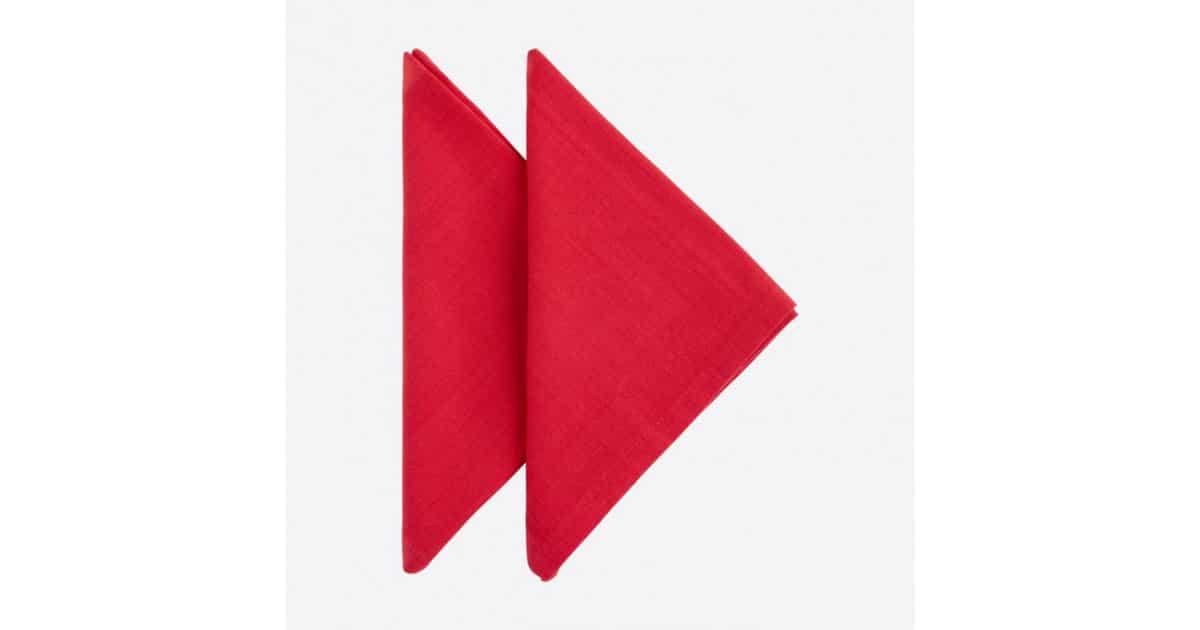 Set 2 tovallons - Basic Rojo