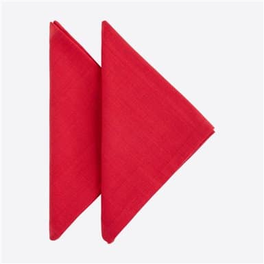 Set 2 napkins - Basic Rojo