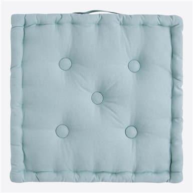 Box Cushion - Basic Aqua