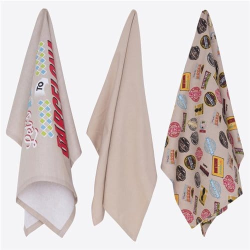 Kitchen towel set 3 pcs - Bcn Vintage