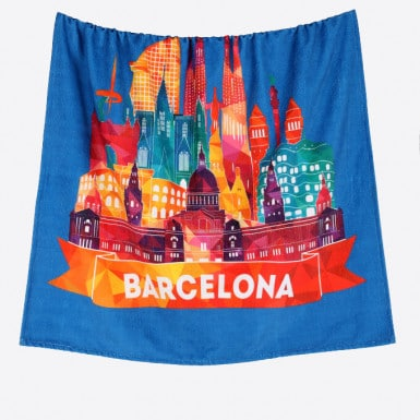 Beach Towel - Skyline Blue