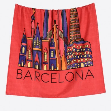 Beach Towel - Skyline Red