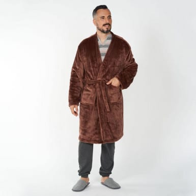 Housecoat - Basic marron