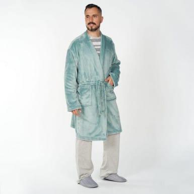 Housecoat - Basic aqua