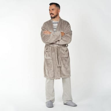 Housecoat - Basic gris