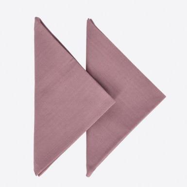 Set 2 tovallons - Basic malva