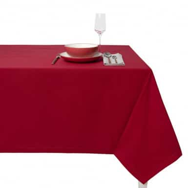 Cotton Tablecloth - Basic rojo