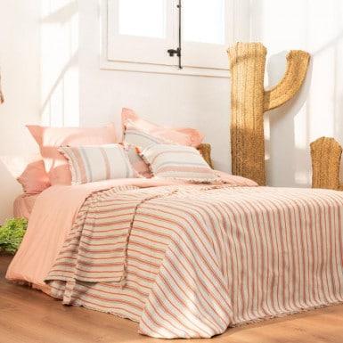 Bedspread - Flecos naranja