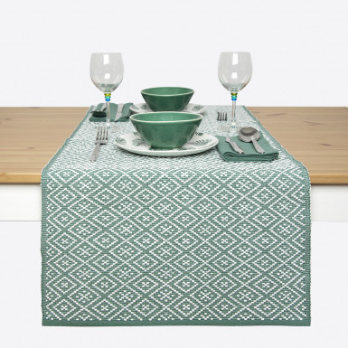 Camí de taula - Basic verde