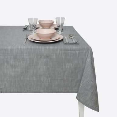 Cotton Tablecloth - Gris...