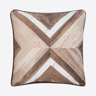 Cushion cover - Parquet blanco