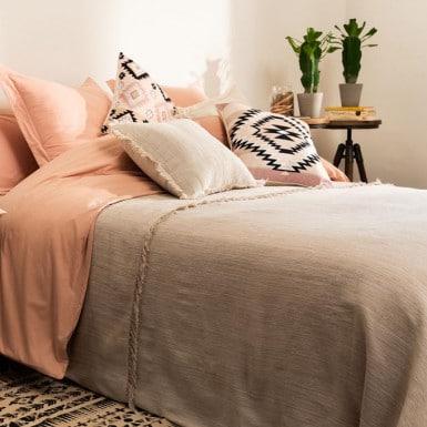 Bedspread - Flecos color lino