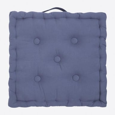 Box Cushion - Basic azul