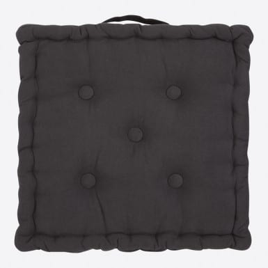 Box Cushion - Basic negro
