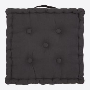 Box Cushion - Basic negro
