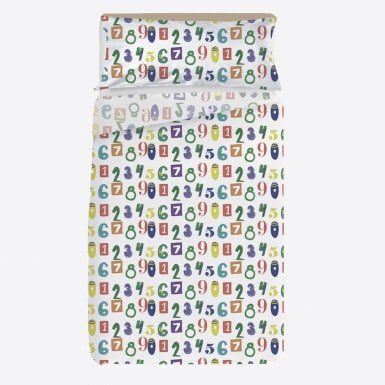 Sheets set 2 pcs - Numbers