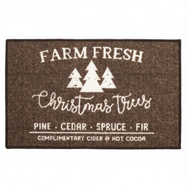 Door mat - Pines marron
