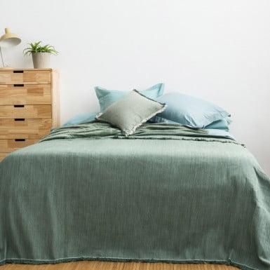 Bedspread - Flecos menta