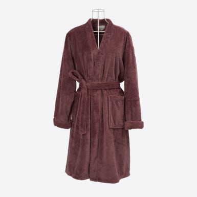 Housecoat - Basic Granate