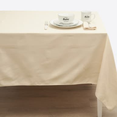 Cotton Tablecloth - Granite