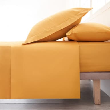 Cotton Flat Sheet - Basic Ocre