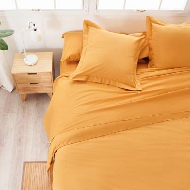 Cotton Flat Sheet - Basic Ocre