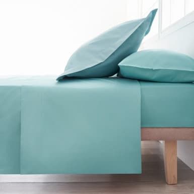 Cotton Flat Sheet - Basic Aqua