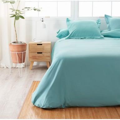 Cotton Flat Sheet - Basic Aqua