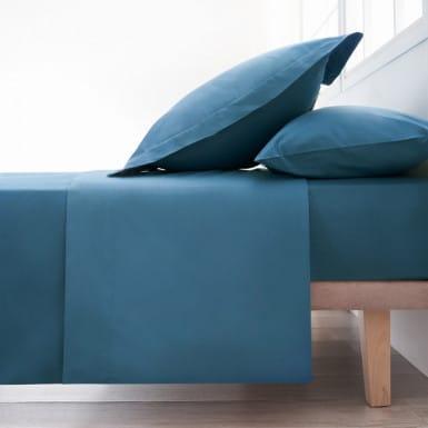 Cotton Flat Sheet - Basic Azul
