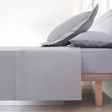 Cotton Flat Sheet - Basic Gris
