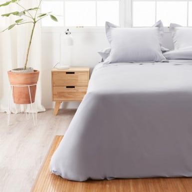Cotton Flat Sheet - Basic Gris