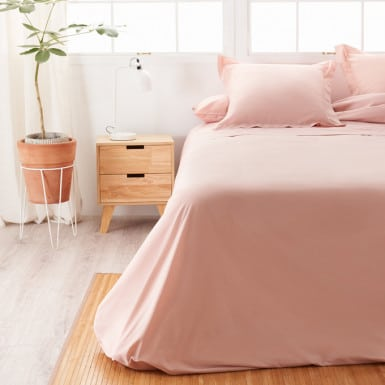 Cotton Flat Sheet - Basic Nude