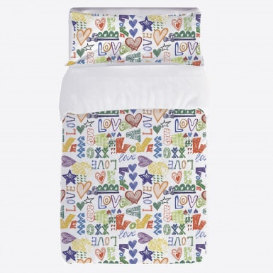 Duvet cover set 2pcs - Love