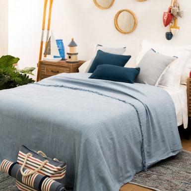 Bedspread - Flecos Azul