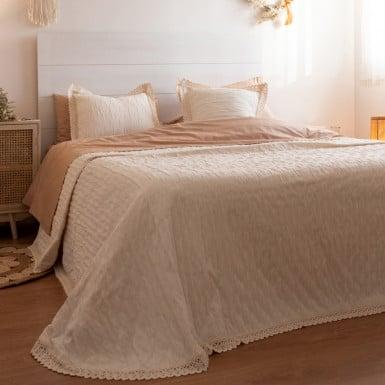 Pique Bedspread - Camelia