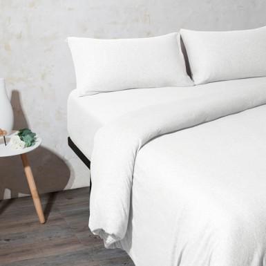 Cotton Knit Duvet Cover -...