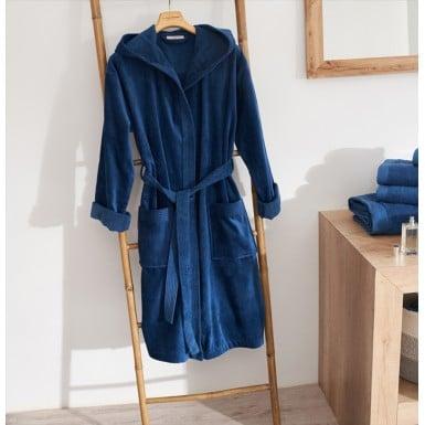Velor Bathrobe - Basic LM Azul