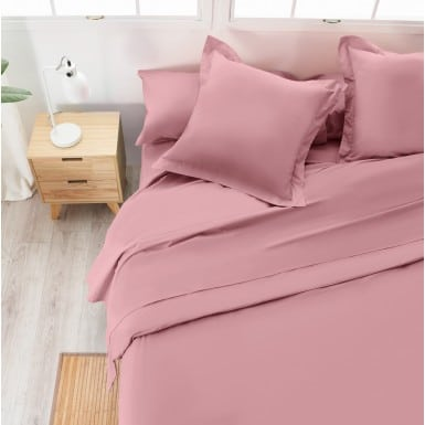 Cotton Flat Sheet - Basic rosa