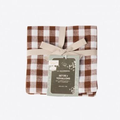 Cotton Set 2 napkins - Teodora