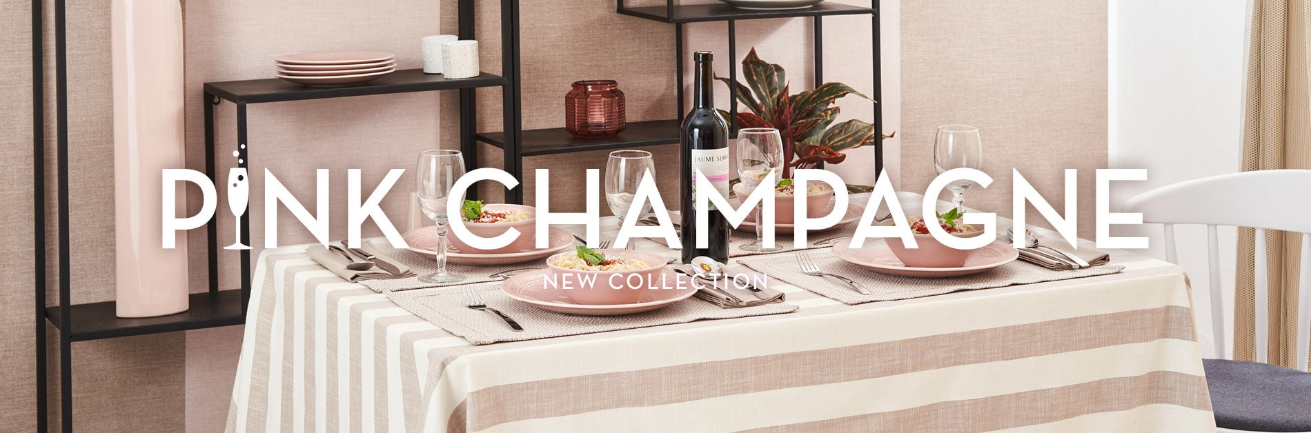 NEW TABLELINEN COLLECTION PINK CHAMPAGNE