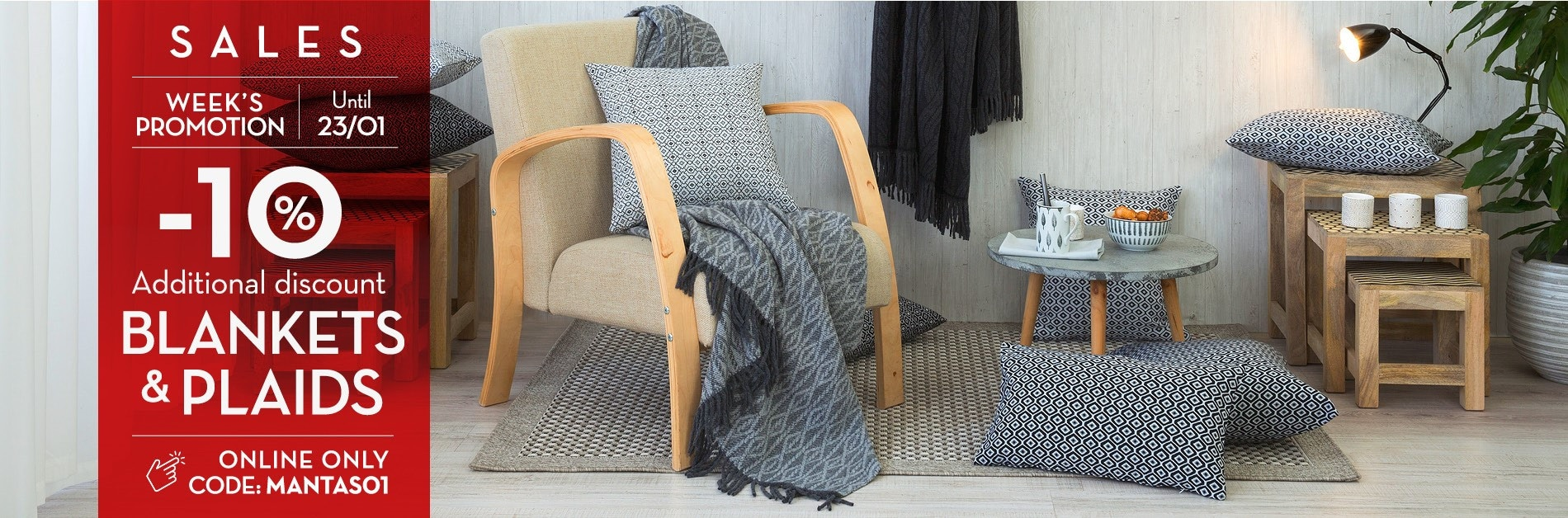 Get an EXTRA 10% OFF - blankets & plaids orders