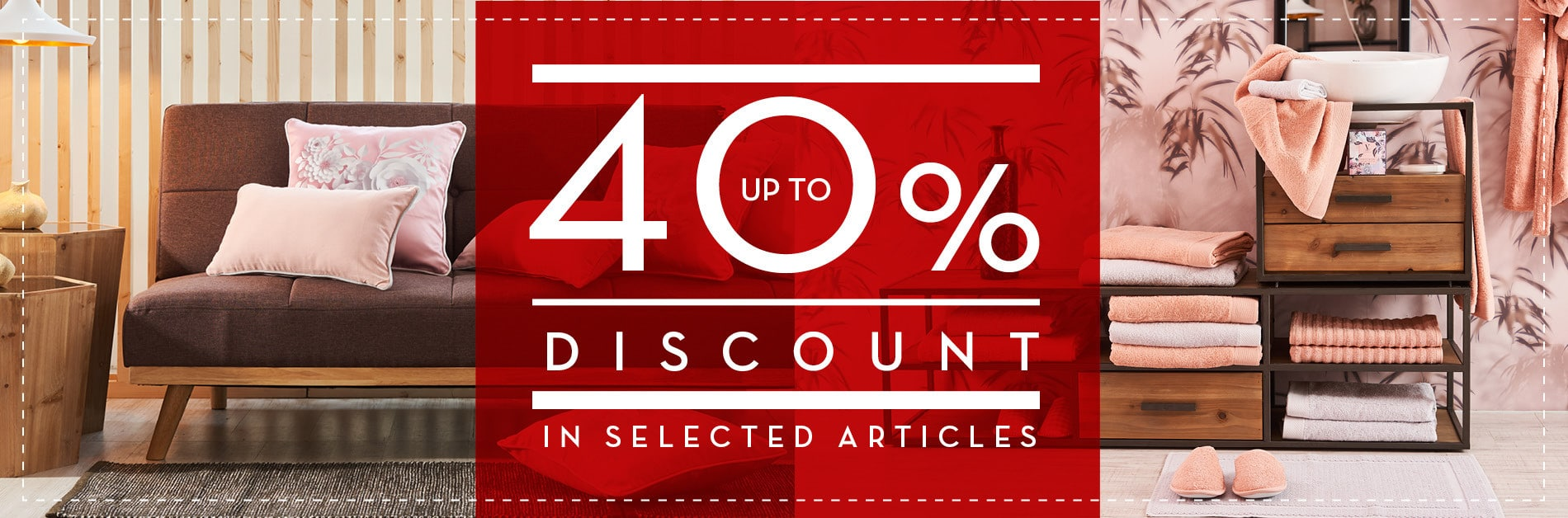 40% Off in selected items