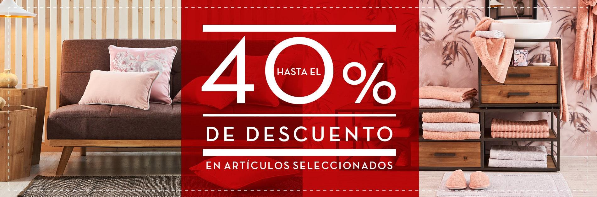 40% dto en artículos seleccionados