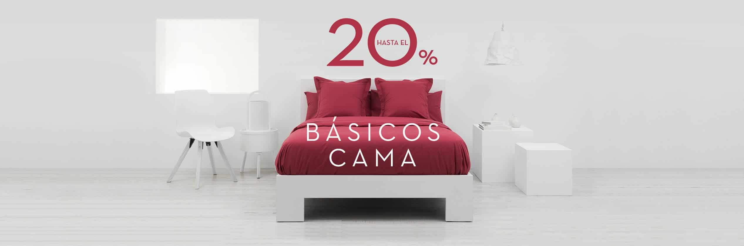 PROMOCIÓN BASICOS CAMA HASTA 20% DTO